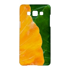 Wet Yellow And Green Leaves Abstract Pattern Samsung Galaxy A5 Hardshell Case