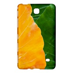 Wet Yellow And Green Leaves Abstract Pattern Samsung Galaxy Tab 4 (8 ) Hardshell Case