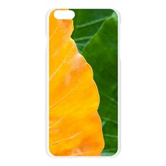 Wet Yellow And Green Leaves Abstract Pattern Apple Seamless iPhone 6 Plus/6S Plus Case (Transparent)