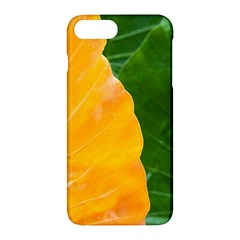 Wet Yellow And Green Leaves Abstract Pattern Apple Iphone 7 Plus Hardshell Case