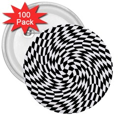 Whirl 3  Buttons (100 Pack)