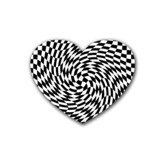 Whirl Rubber Coaster (heart)
