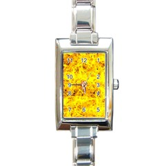 Yellow Abstract Background Rectangle Italian Charm Watch