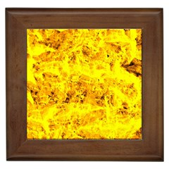 Yellow Abstract Background Framed Tiles