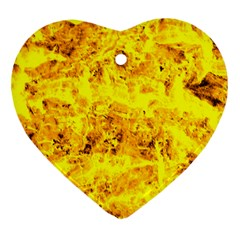 Yellow Abstract Background Ornament (heart)