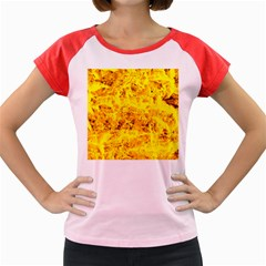 Yellow Abstract Background Women s Cap Sleeve T Shirt