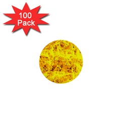 Yellow Abstract Background 1  Mini Buttons (100 Pack)