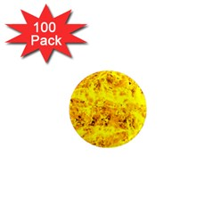 Yellow Abstract Background 1  Mini Magnets (100 pack)