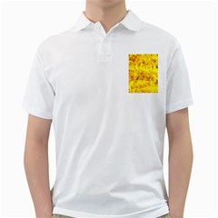 Yellow Abstract Background Golf Shirts