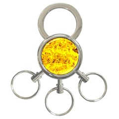 Yellow Abstract Background 3 Ring Key Chains