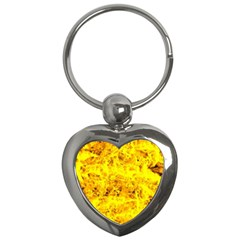 Yellow Abstract Background Key Chains (Heart)