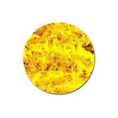 Yellow Abstract Background Magnet 3  (round)
