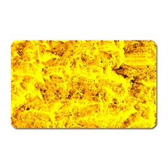 Yellow Abstract Background Magnet (rectangular)