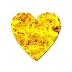 Yellow Abstract Background Heart Magnet
