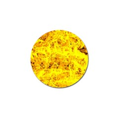 Yellow Abstract Background Golf Ball Marker