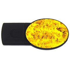 Yellow Abstract Background Usb Flash Drive Oval (2 Gb)