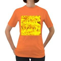 Yellow Abstract Background Women s Dark T Shirt