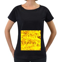Yellow Abstract Background Women s Loose Fit T Shirt (black)
