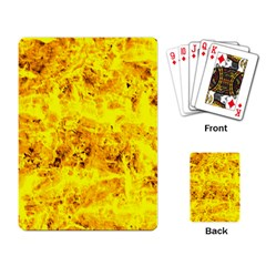 Yellow Abstract Background Playing Card
