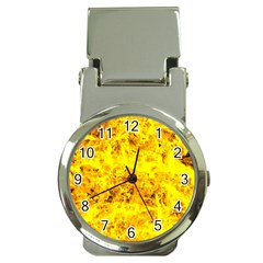 Yellow Abstract Background Money Clip Watches