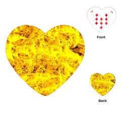 Yellow Abstract Background Playing Cards (heart)