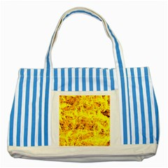 Yellow Abstract Background Striped Blue Tote Bag