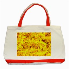 Yellow Abstract Background Classic Tote Bag (red)