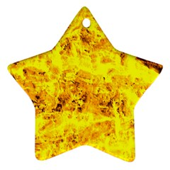 Yellow Abstract Background Star Ornament (two Sides)