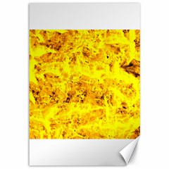 Yellow Abstract Background Canvas 12  X 18