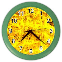 Yellow Abstract Background Color Wall Clocks
