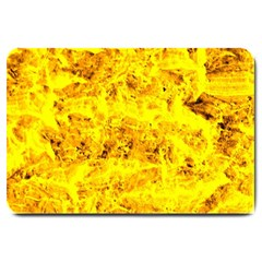 Yellow Abstract Background Large Doormat