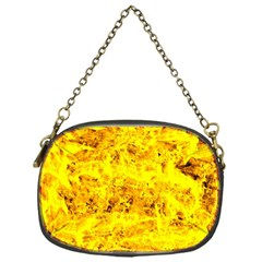 Yellow Abstract Background Chain Purses (one Side)