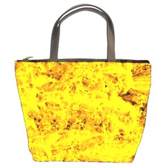 Yellow Abstract Background Bucket Bags