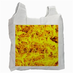 Yellow Abstract Background Recycle Bag (One Side)