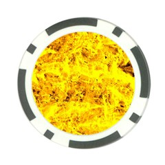 Yellow Abstract Background Poker Chip Card Guard (10 Pack)