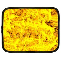 Yellow Abstract Background Netbook Case (xxl)