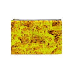 Yellow Abstract Background Cosmetic Bag (medium)