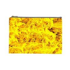 Yellow Abstract Background Cosmetic Bag (large)