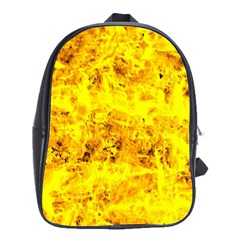 Yellow Abstract Background School Bags(large)