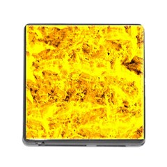 Yellow Abstract Background Memory Card Reader (square)