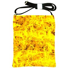 Yellow Abstract Background Shoulder Sling Bags