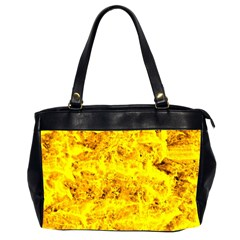 Yellow Abstract Background Office Handbags (2 Sides)