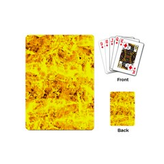Yellow Abstract Background Playing Cards (mini)