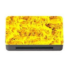 Yellow Abstract Background Memory Card Reader With Cf
