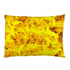Yellow Abstract Background Pillow Case (two Sides)