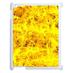 Yellow Abstract Background Apple iPad 2 Case (White)