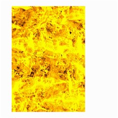 Yellow Abstract Background Small Garden Flag (two Sides)