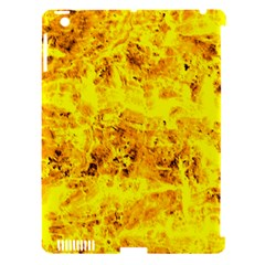Yellow Abstract Background Apple Ipad 3/4 Hardshell Case (compatible With Smart Cover)