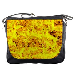 Yellow Abstract Background Messenger Bags