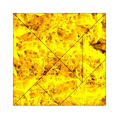 Yellow Abstract Background Acrylic Tangram Puzzle (6  X 6 )